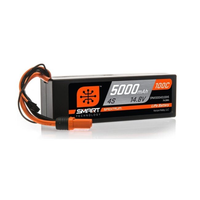 Spektrum Smart LiPo 14.8V 5000mAh 100C HC IC5